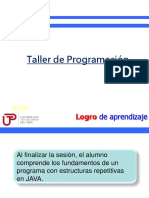 TALLER DE PROGRAMACION DO WHILE