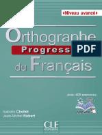 Orthographe Progressive du français - Avancé.pdf