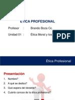 Etica Profesional - MORAL Y VALORES