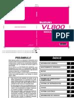 Suzuki VL800 Intruder K1-K6 2001-2006 - Manual de Servicio ES