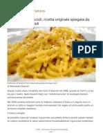 Carbonara Di Roscioli, Ricetta Originale Spiegata Da Alessandro Roscioli