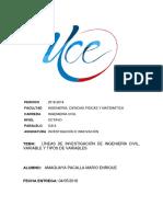 Líneas de Investigación de Ingeniería Civil en La Universidad Central