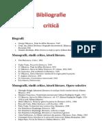 Bibliografie Critică Eminescu