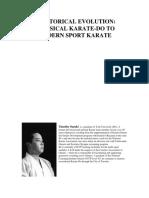 A Historical Evolution - Classical Karate-do to Modern Sport Karate