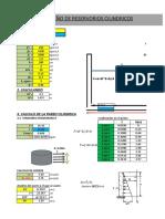 Hoja Excel para el Calculo del Diseño de Reservorio Cilíndrico