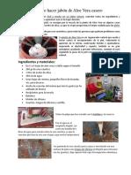 Cómo Hacer Jabón de Aloe Vera Casero