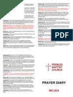 Prayer Diary May 2018