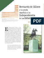 Bernardo De Galvez y La Ayuda Espanola a La Independencia de EEUU