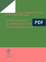 (Appunti_Lecture Notes, 10) Ambrosio L., Da Prato G., Mennucci a. -Introduction to Measure Theory and Integration-Edizioni Della Normale (2011)