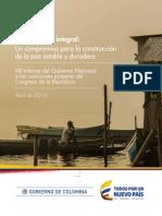 VIII Informe sobre Victimas al Congreso de la Republica. 2016