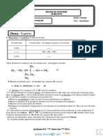 Devoir de Synthèse N°3 - Sciences physiques - 3ème Informatique (2013-2014) Mr Krid Mohsen