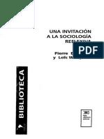 Bourdieu - Una Invitación a La Sociología Reflexiva
