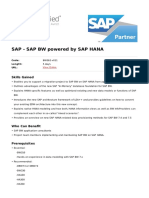 Sap Bw Powered by Sap Hana