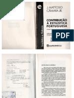 Livro Contribuição a Estilística Portugues- Matoso Câmara Júnior