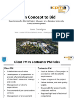 ICPMA From Concept to Bid