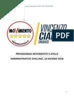 Il programma del MoVimento 5 Stelle Avellino - Amministrative 2018