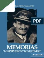 Memorias - Adolf Galland
