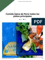 Comida Típica de Perú_ Todos Los Platos Principales