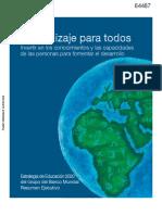 Aprendizaje Para Todos Banco Mundial