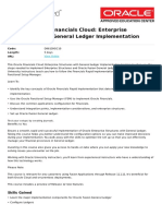 Oracle Financials Cloud Enterprise Structures With General Ledger Implementation