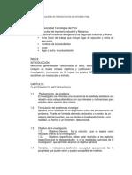 Esquema de Presentación de Informe Final