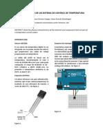 Identificación de Un Sistema de Control de Temperatura