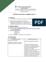 Detailed Lesson Plan English Odz