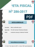 Diapositivas Informe de La Carpeta Fiscal Nº 286-2017