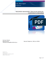 HP Records Manager HPRM Corporate Training Manual 2017 Latest