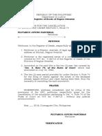 Petition Rule 74, Sec 4