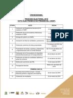 Cronograma Proceso Electoral 2018