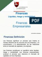 Finanzas Liquidez, Riesgo y Rentabilidad