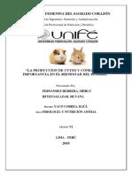 Cuestionario Grupa La Produccion de Cuyes y Conejos.