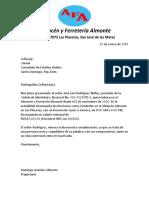 Carta de Trabajo Almacen Almonte
