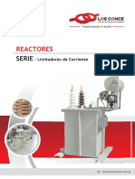5 - Catálogo Reactores Serie Limitadores de Corriente - Los CONCE Transformadores
