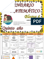 5° CALENDARIO MATEMATICO