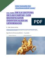 Lenormand.el ABC de La Lectura de Las Cartas Por Método Alemán