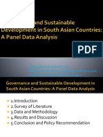 Governance and Sustainable Development in South Asian Countries