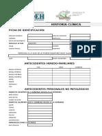 Historia Clinica Excel