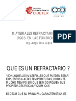 Presentacion j Lopez Mat Refractarios Para Usos en Las Fund Ferrosas
