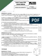 Devoir de Contrôle N°1 - Physique - Bac Math (2009-2010)