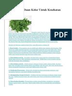 10 Manfaat Daun Kelor Untuk Kesehatan.docx