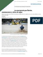 2016 04 17 - El Pais - Santiago de Chile, En Emergencia Por Lluvias, Inundaciones y Cortes de Agua