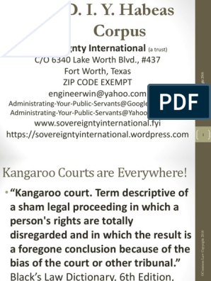 D I Y Habeas Corpus 090316 Orden De Arresto Common Law