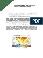 Factores Asociados a Los Cambios Climaticos