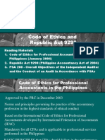 Ethical Requirements and Code of Ethics