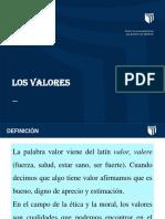 Ppt Los Valores