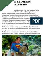 12 Ejemplos de Deus Ex Machina en Peliculas - TV, Peliculas y Series