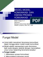 Modelmodel Komunikasi Dan Esensi Proses Komunikasi (1)