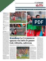 La Provincia Di Cremona 13-05-2018 - Grandiosa